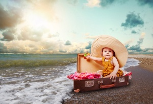 Funny Baby Girl Traveler
