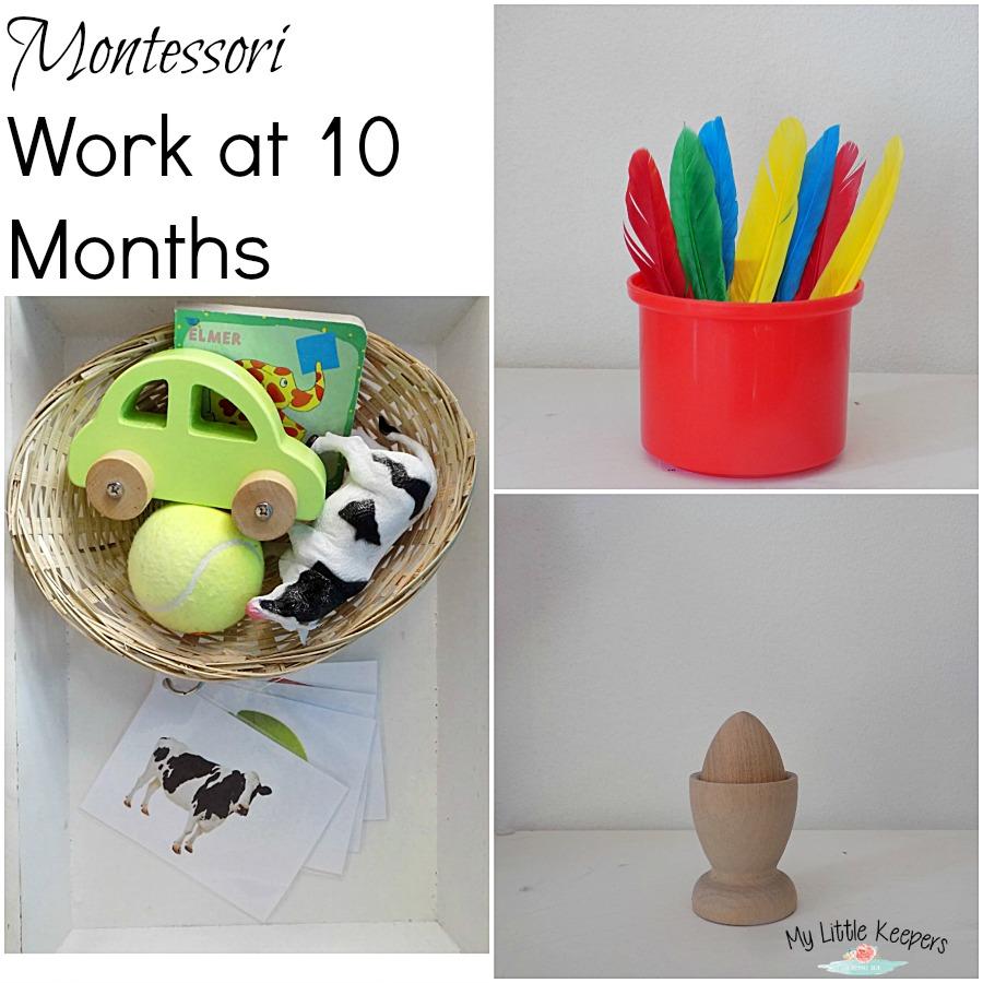 montessori work at 10 months